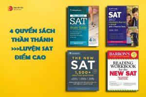 4 quyển sách luyện SAT thần thánh - Tư vấn du học tại Huế