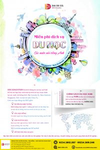 Công ty tư vấn du học uy tín tại Huế. Công ty du học DDC - 01234.369.246 - 0234.3812267 Địa chỉ: 02 Hồ Tùng Mậu, TP.Huế. #