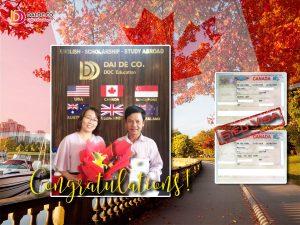 Và đây là kết quả mà DDC đạt được. Gửi visa 1 lần và được 1 cặp siêu visa Canada 10 năm! Chúc mừng cô chú Nguyễn Họp! Chúc cô chú có chuyến đi vui vẻ!