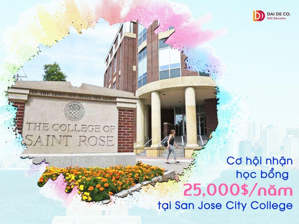 Học bổng 25,000$/năm tại College of Saint Rose, USA