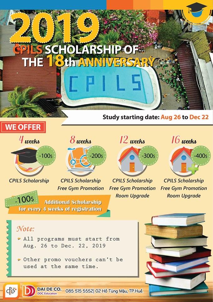 CPILS là trường dạy tiếng Anh tiên phong và phát triển tại thành phố Cebu, Philippines. Trường cung cấp chương trình giảng dạy tiếng Anh đến sinh viên quốc tế có mong muốn học tập và làm việc tại các quốc gia sử dụng tiếng Anh. ?Khóa học IELTS COURSE: một khóa họ