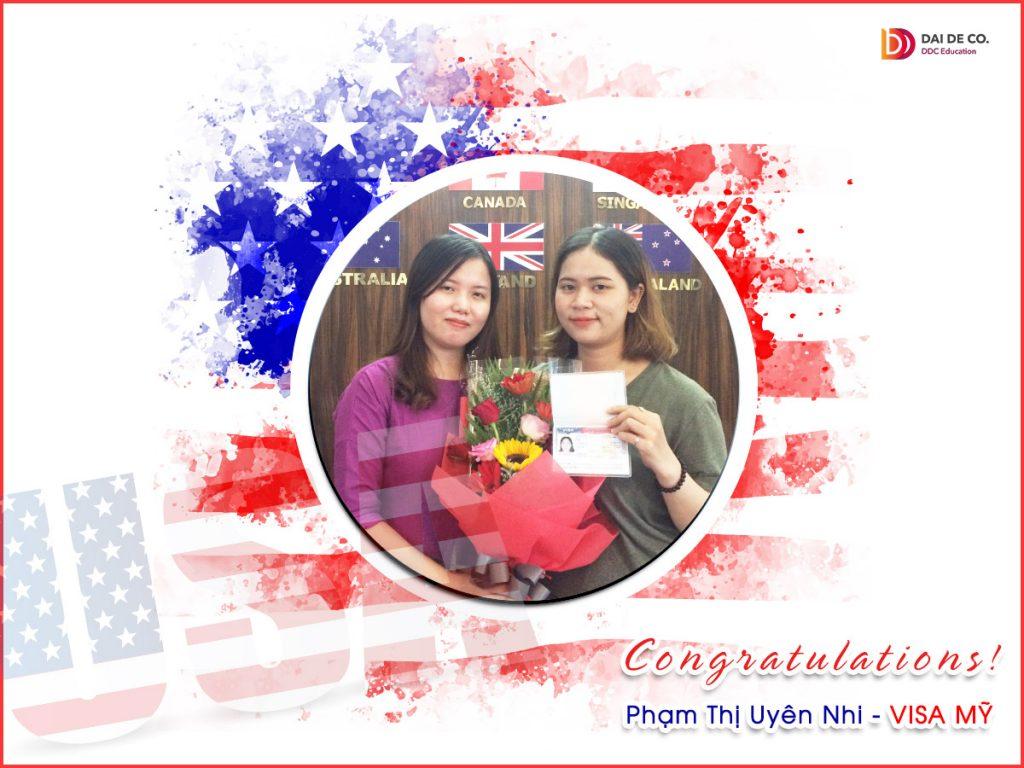 """Hé mở cô nàng tài năng vừa """"giành lấy"""" tấm visa Mỹ! Chúc mừngUyên Nhi nhé! Chúc em học tốt và thành công ở chân trời mới!"""